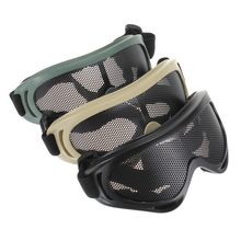 High Quality Outdoors Hunting Airsoft Net Tactical Shock Resistance Eyes Protecting Outdoor Sports Metal Mesh Glasses Goggle