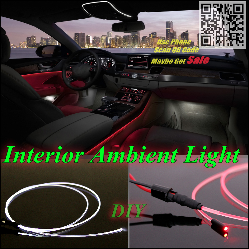 For Acura CL Car Interior Ambient Light Panel illumination For Car Inside Update Refit Air Cool Strip Light / Optic Fiber Band(China (Mainland))