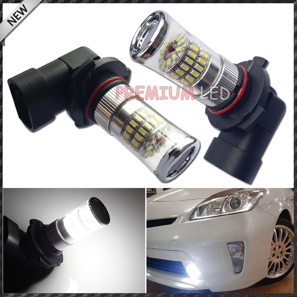 2pcs X-Bright Xenon White 48-SMD 9006 HB4 9012  LED Bulbs w/ Reflector Mirror Design For Fog Lights