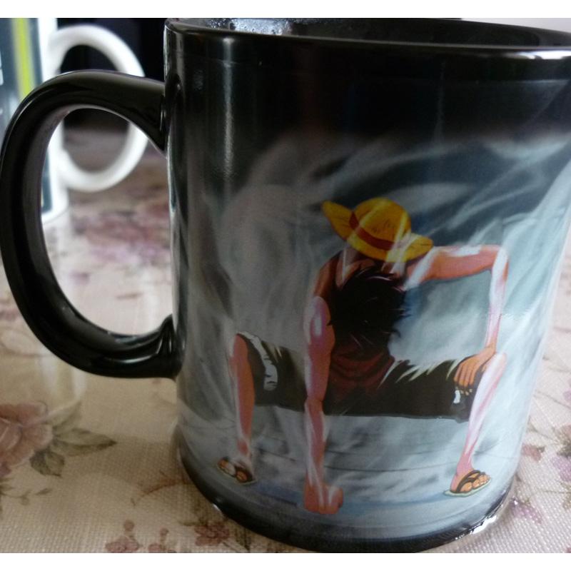 Drop shipping- Luffy Color Changing Magic Mug with Original packaging Heat-sensitive Reactive ceramic coffee tea milk mug cup(China (Mainland))