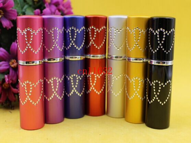Free Shipping Beautiful 5ML Mini Portable Makeup Aftershave Refillable Perfume Empty Bottle Spray Atomizer With star,100pcs/lot