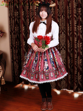 Free shipping! New Arrivals! High Quality! Lovely Lace Cotton High Waist Lolita Skirts