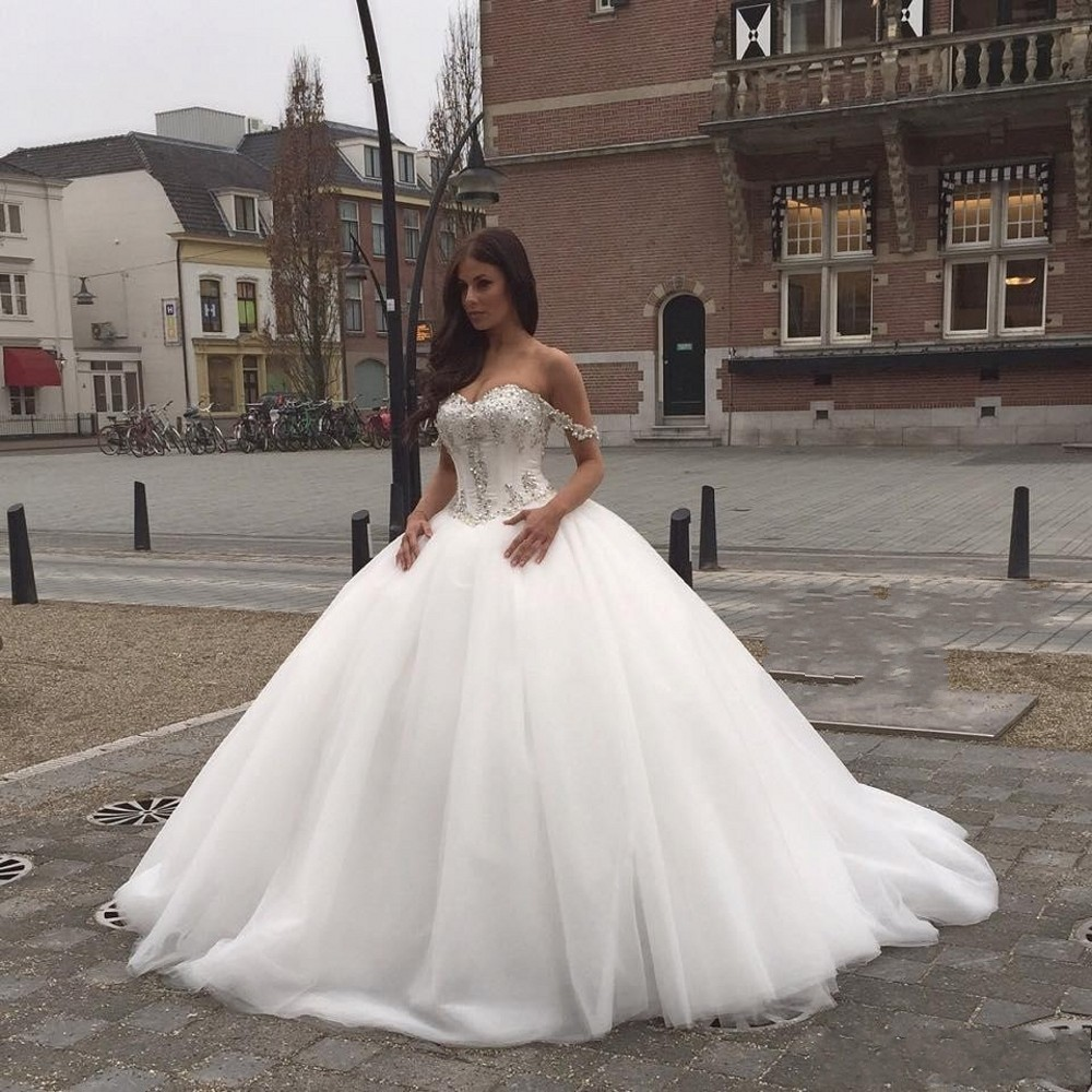 Corset wedding dresses with bling 2017