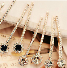 2016 Newest Exporter sale 4pcs/lot cute lovely rhinestone hair clip for girls fashion hair pins(China (Mainland))