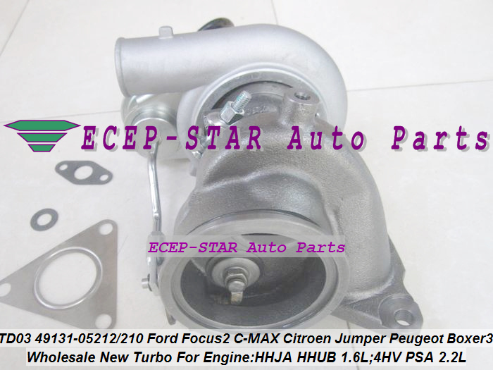 Free Ship TD03L4 49131-05212 49131 05212 0375K7 Turbo For Ford C-MAX Fiesta VI HHJA HHUB 1.6L For Peugeot Boxer III 4HV PSA 2.2L