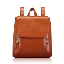 New 2016 Women Oil Wax Leather Backpack Vintage Backpacks for College Girls Preppy Style Women Backpack Waterproof Travel Bag (China (Mainland))