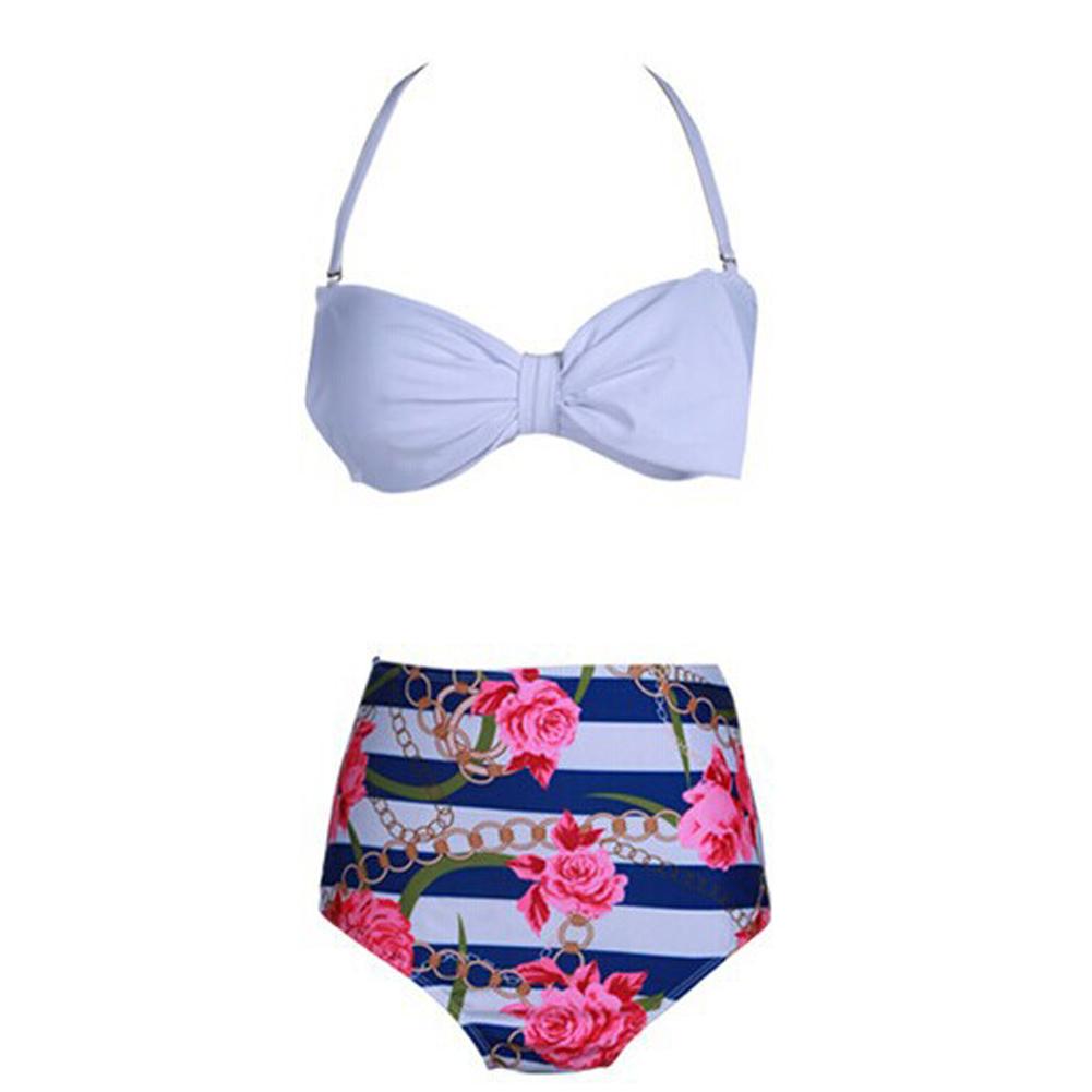 floral high waisted bikini - photo #41