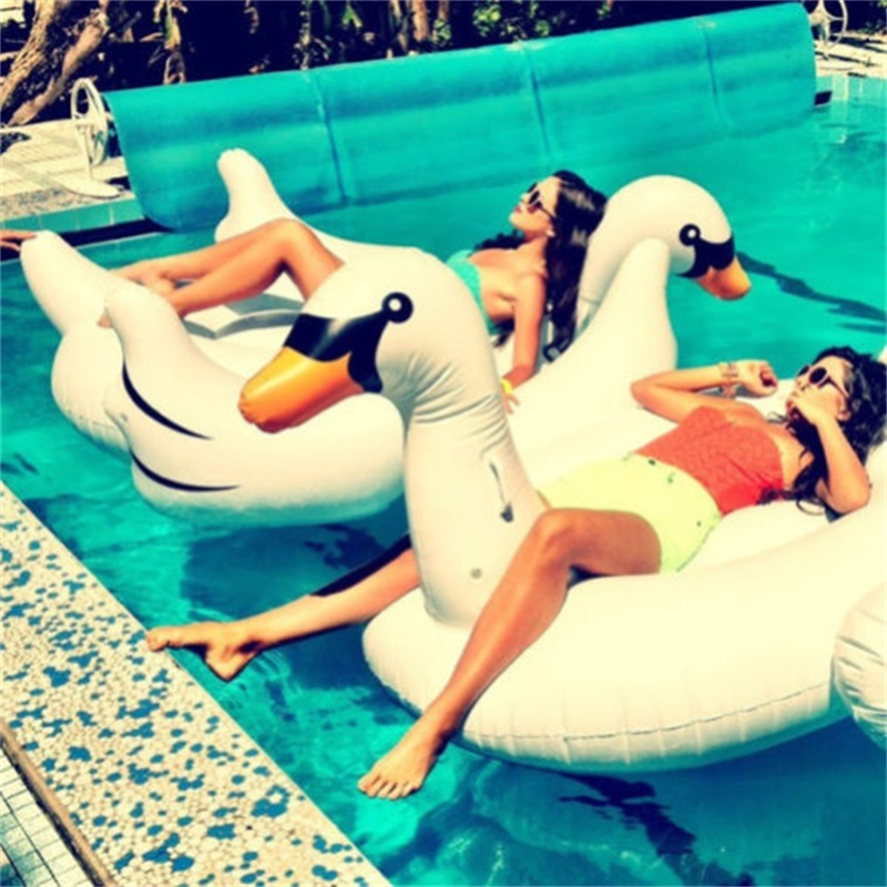 1.5M Summer Giant Swan Inflatable Float Air Mattresses Swimming Pool Toy Water Pool Toys Swan Float Inflatable Swim Ring(China (Mainland))