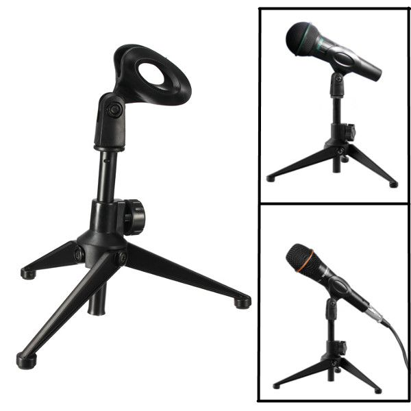 Brand New Adjustable Metal Desktop Table Mic Microphone Clamp Clip Holder Stand Tripod New(China (Mainland))