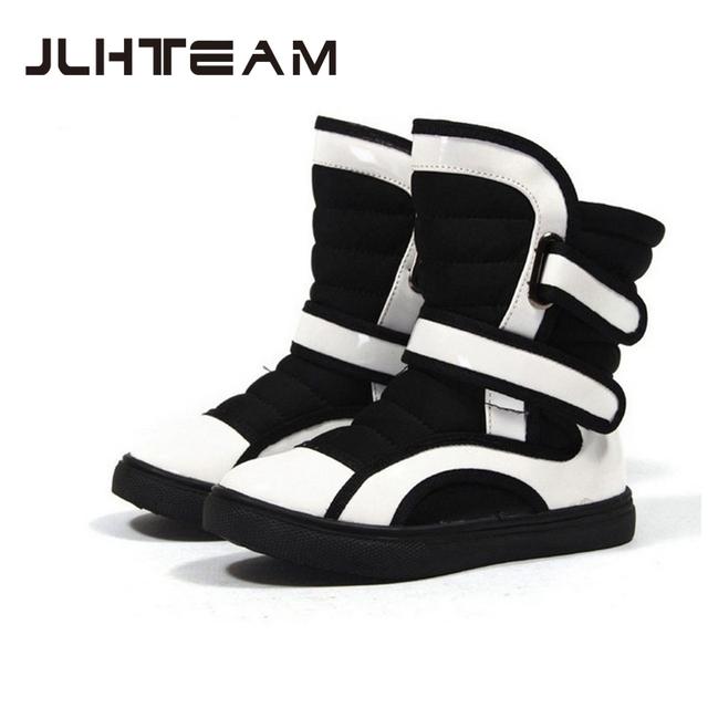 2016 новых детская обувь теплые сапоги плюшевые снегоступы мальчиков и девочек мода зимние сапоги хорошее качество магия лента
