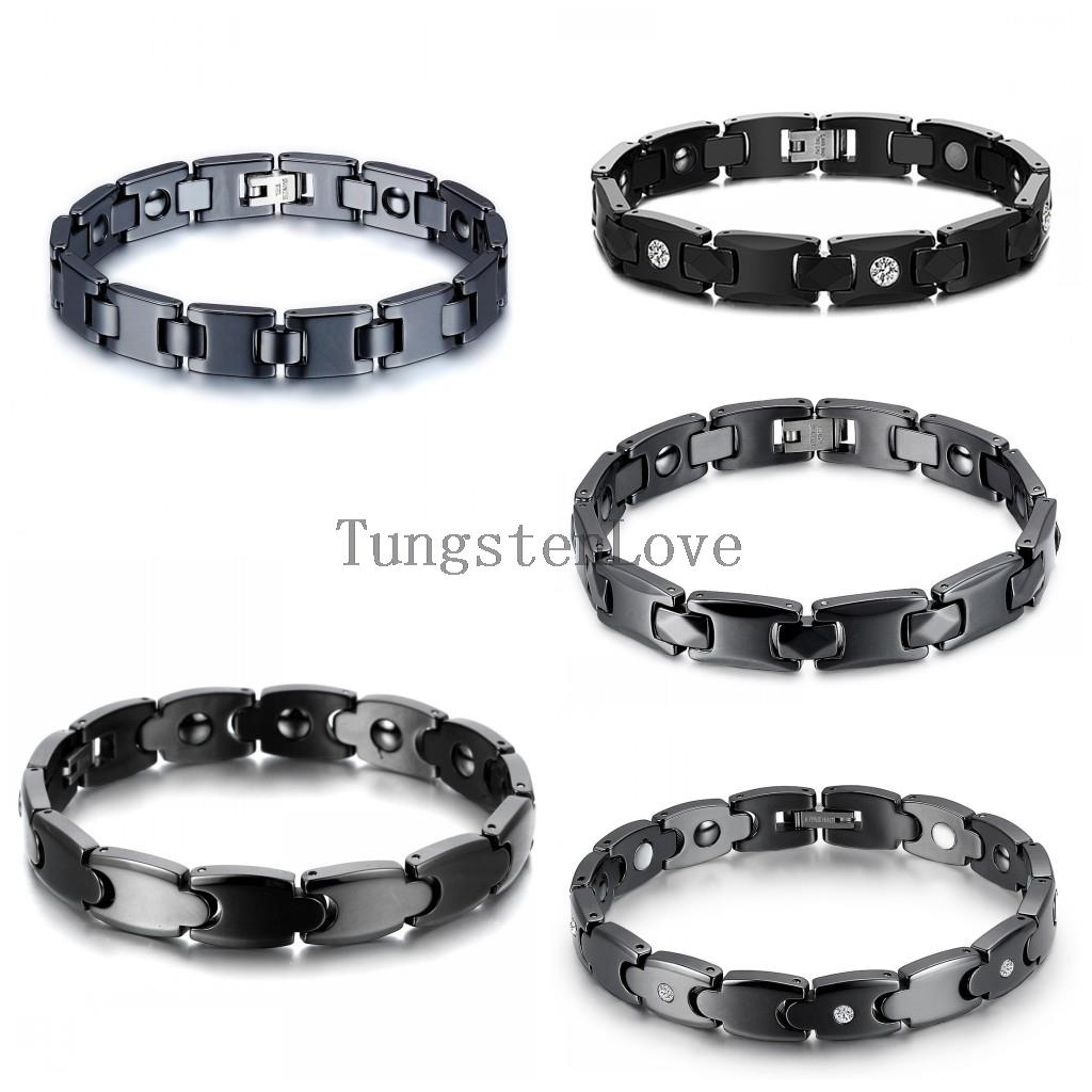 2015 Wholesale Energy Magnetic Health Bracelet Men Brazil Style Couples Black Ceramic Bracelets For Men Women pulseira masculina(China (Mainland))