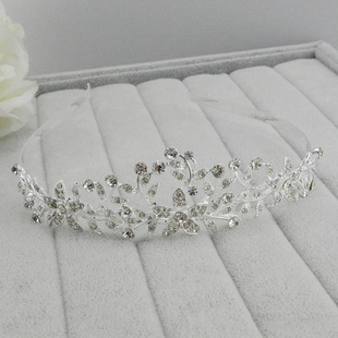 6pcs/lot Wholesale Silver Bridal Tiara Rhinestone Crystal Hair Crown Vintage Wedding Head Accessories jewelry forehead headband(China (Mainland))