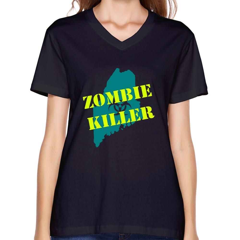 Custom love popular woman 39 s t shirt swag maine zombie for Custom fashion t shirts