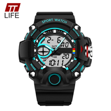 Buy TTLIFE Brand Fashion 30M Waterproof Men Watch Military Sports Watches Male LED Display Analog Digital Electronic Wristwatches for $9.95 in AliExpress store