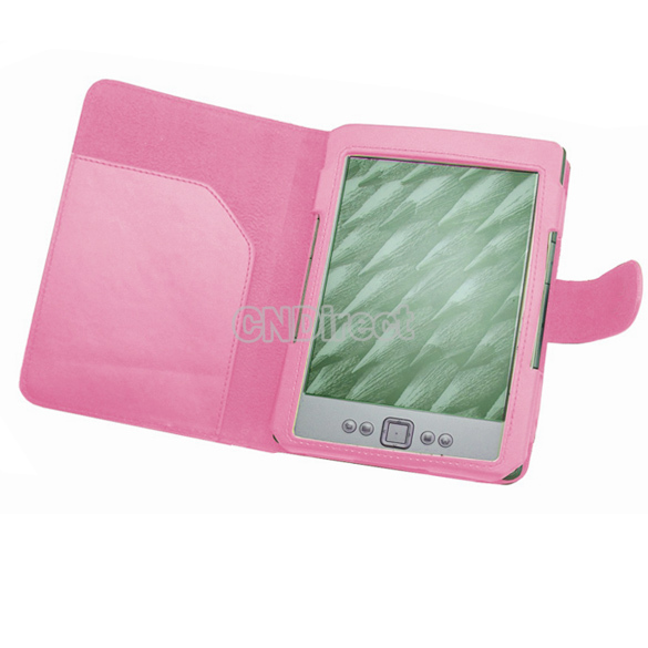 Holiday Sale! Wholesale 10Pcs/Lot PU Leather Pouch Case Cover For Amazon Kindle 4 4th Generation Pink 59x