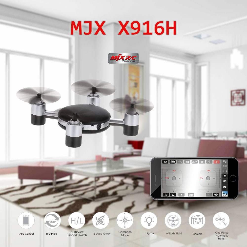 MJX X916H Wifi FPV APP Control Mini RC Quadcopter Helicopter with 720P HD Camera 2.4GHz Real-time Iphone Control RC Drones(China (Mainland))