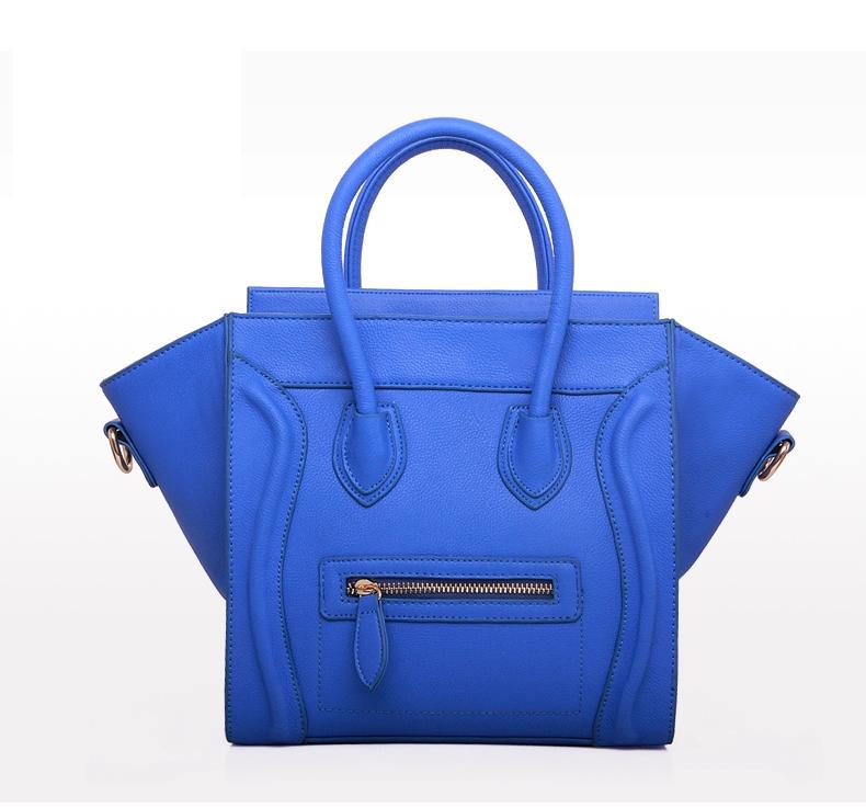 New 2015 Famous Designers C Brands Smiley line Bags Plain OU Leather Women Handbag Women Message Bag(China (Mainland))