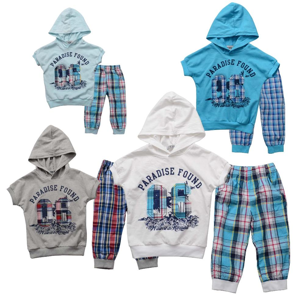 TOK TIC Brand Children clothing set summer new fashion kids sets boys cotton t shirt and