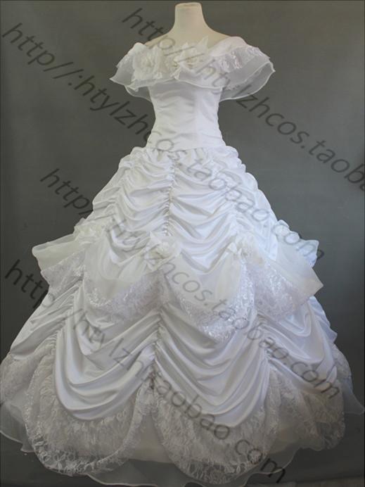 Princesse belle robe de mariage promotion achetez des princesse belle robe de mariage - Robe la belle et la bete adulte ...