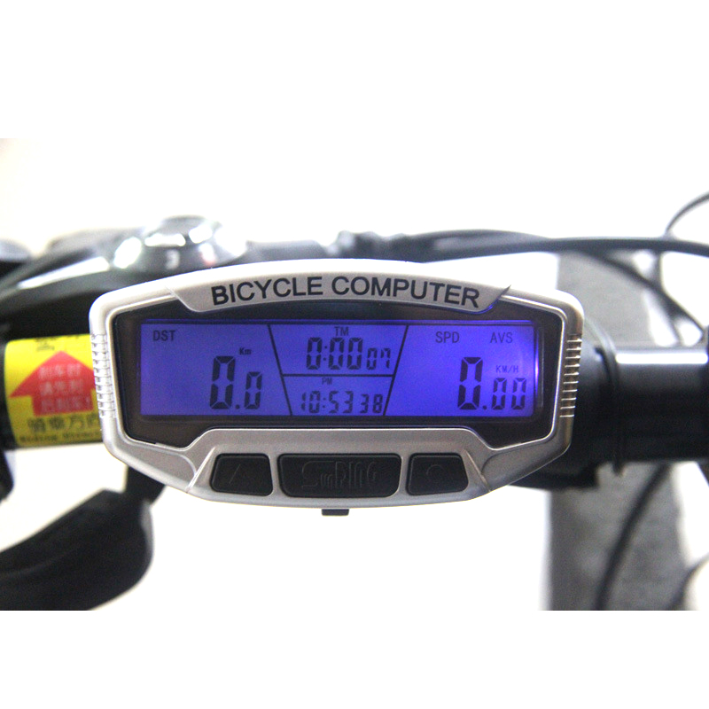 Hot Sale Digital LCD Backlight Bicycle Computer Odometer Bike Meter Speedometer SD558A Clock Cycling Stopwatch(China (Mainland))