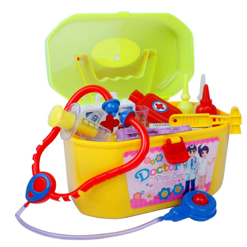 Гаджет  Free Shipping Simulation Medicine Box Doctor Toys Stethoscope Injections Doctor Playsets None Игрушки и Хобби
