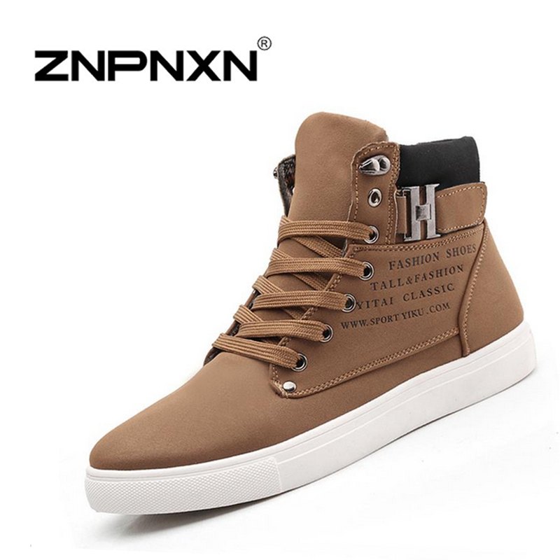 ZNPNXN spring autumn boots lace up Fashion men boots, ankle motorcycle boots for men size:39-44(China (Mainland))