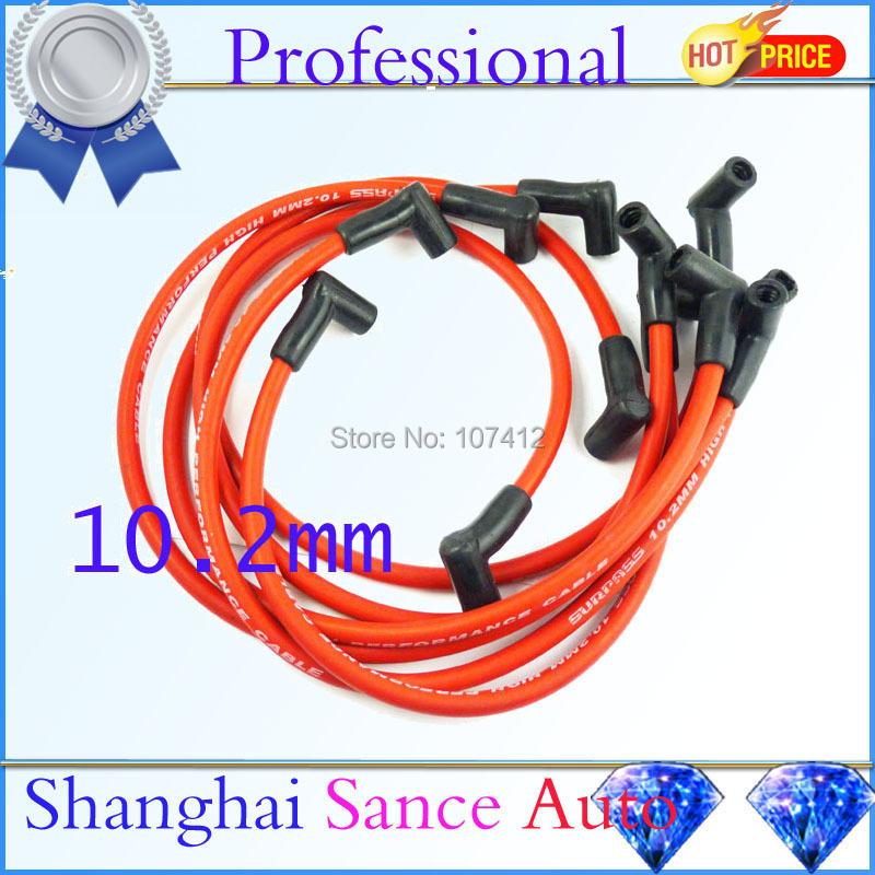 Red Ignition Spark Plug Wire Cable Set 10.2mm For Chevrolet Camaro Pontiac Firebird V6 3.8L 1995 1996 1997 1998 1999 DHDLGM002(China (Mainland))