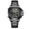 Best Selling All Black Stainless Steel Men Origina lWeide watch style Analog Digital Alarm Water Resistant