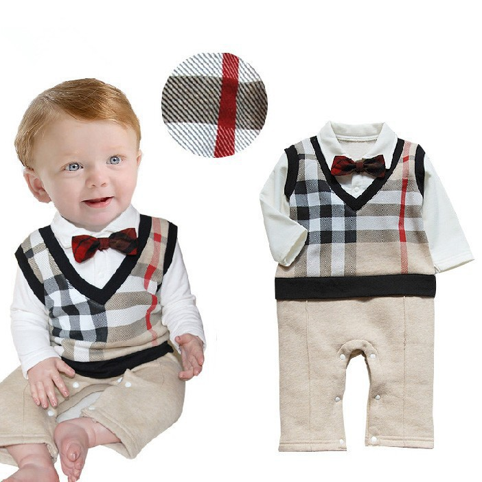 Retail 2015 100 cotton baby boy roupas de bebe Critical gentleman bow long sleeve baby boy