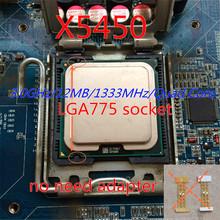 working 775 socket x5450 CPU 3.0GHz /LGA771/L2 Cache 12MB/Quad-Core/FSB 1333MHz/45nm/ server Processor Close to Core 2 q9550 cpu