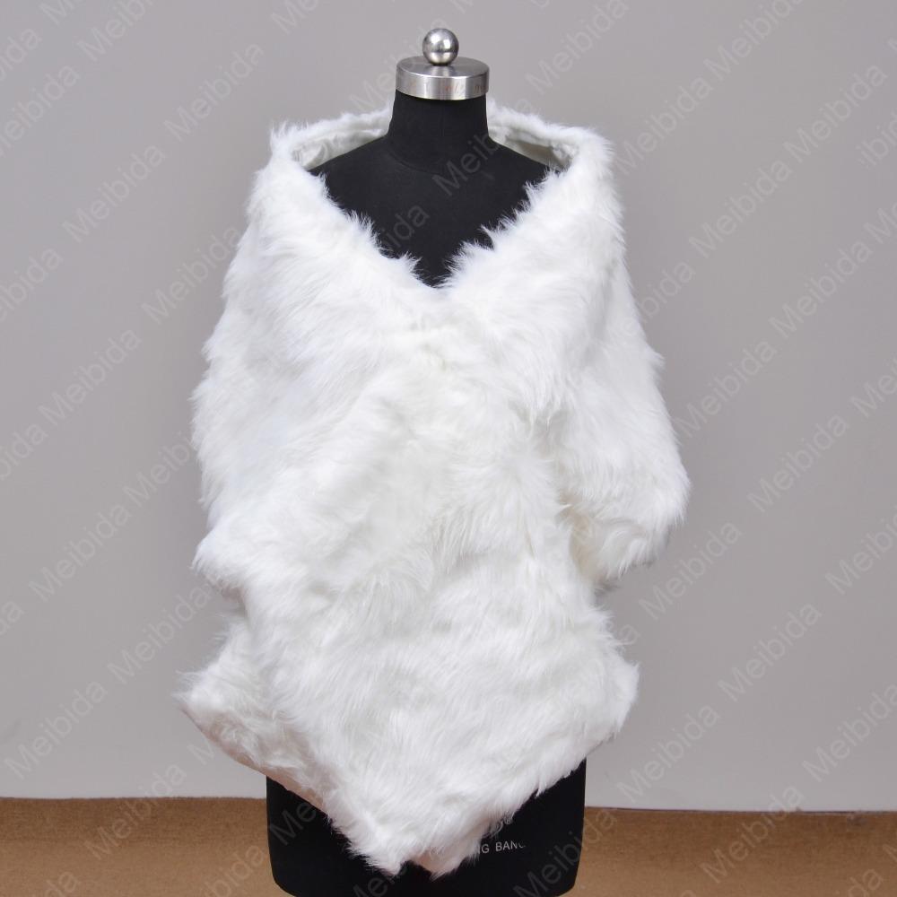 Fur stole shrug warm wedding dress accessories coat and for Fur shrug for wedding dress