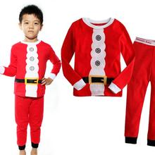 Buy New Christmas Boys Pajamas Long Sleeve Tops Pants Girls Clothing Set Cotton Santa Claus Pijama Kids Children Sleepwear Pyjamas for $6.88 in AliExpress store