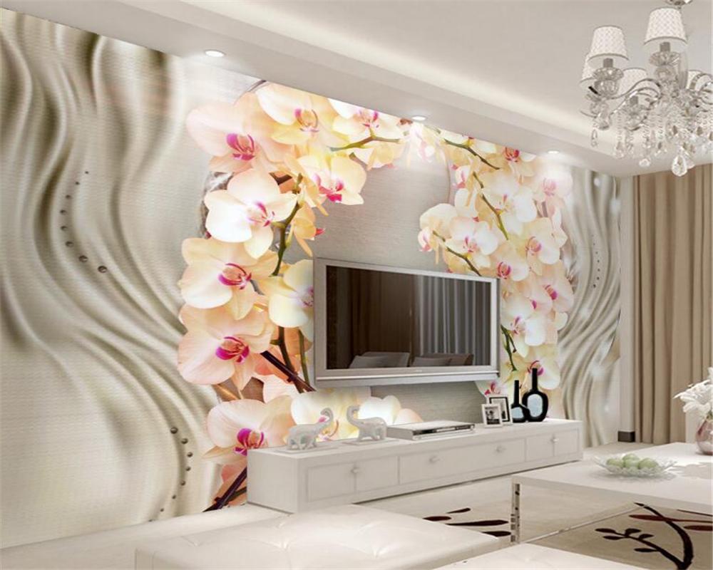 achetez en gros orchid e fleur papier peint en ligne des. Black Bedroom Furniture Sets. Home Design Ideas