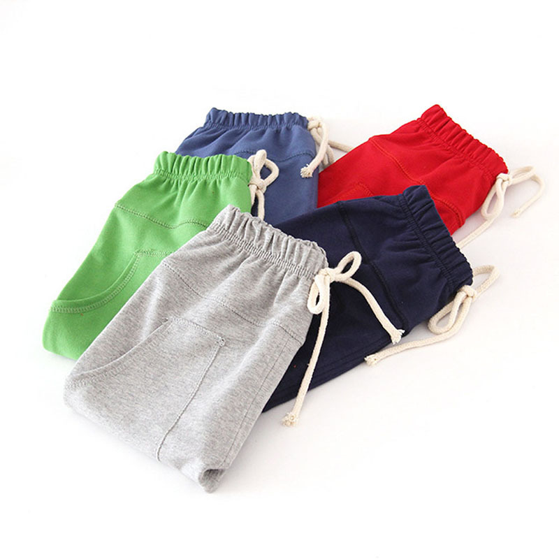Hot selling size 90~130 solid color children pants boys trousers girls harem pants candy child(China (Mainland))