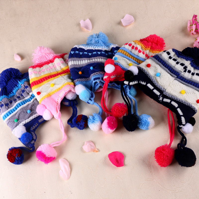 Hot Selling!!! 2015 New Cute Baby Girl Candy ColorsTheBaby Cap Baby GeometricCap Hat knitted Hat Cap Accessories(China (Mainland))