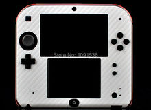 White Color protective cover Carbon Fiber Skin sticker decal for Nintendo 2DS decal for 2DS