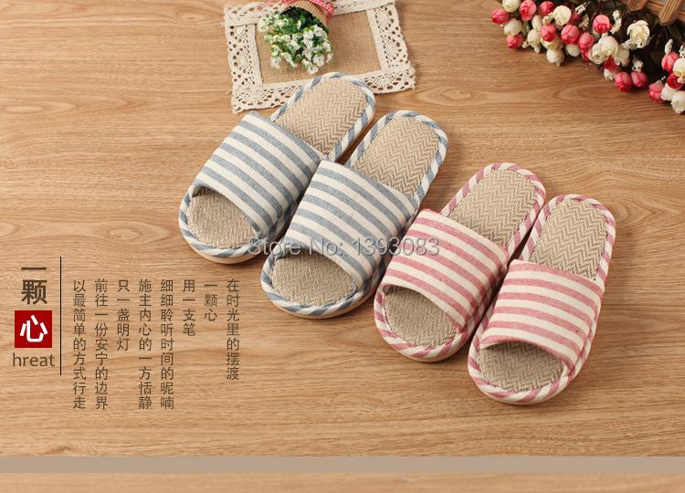 2015 new Stripe men  women lovers female household cool house slippers bathroom non-slip bottom LM20151051(China (Mainland))