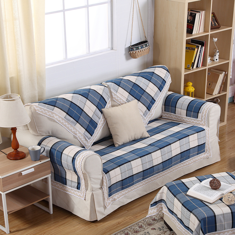 Blue plaid couch promotion shop for promotional blue plaid - Plaid para sofa ...