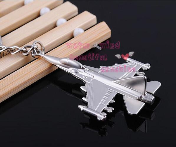 Free shopping hot fashion Polished Silver Airplane Model Metal Keychain Key Chain Ring Keyfob F22 Fighter Aircraft Keychain(China (Mainland))