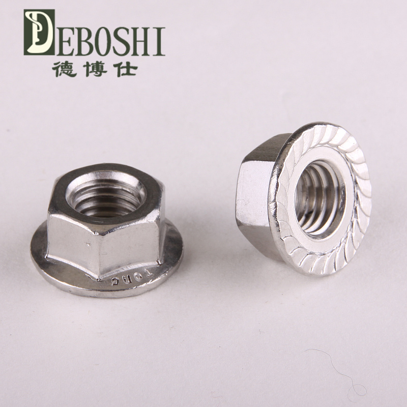 304 stainless steel flanged hex nut flange nuts M3<br><br>Aliexpress