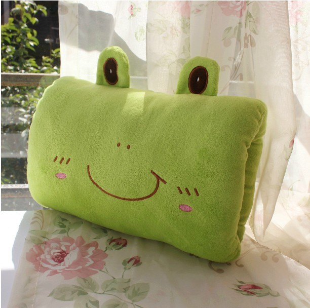 lovely frog plush toy muff,about 30x20cm warm hands ,birthday gift, Christmas gift h642(China (Mainland))