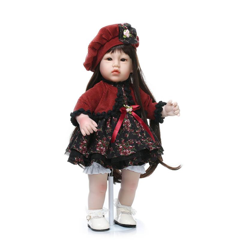 50cm Silicone vinyl toddler baby doll for girl lifelike princess doll model photography props kid play house toy birthday gift(China (Mainland))