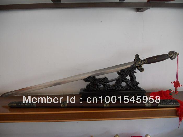 Longquan sword/wudang taiji sword/SuanZhiMu sheath pattern steel sword/rosewood special/Chinese kung fu - Chinese wushu sword longquan arts and crafts store