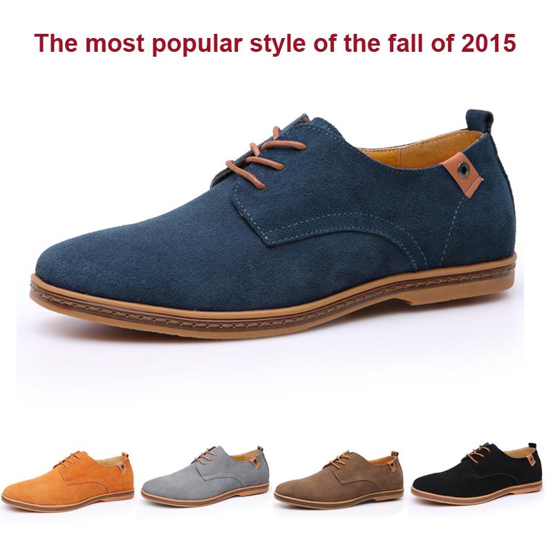 New England sneakers men shoes spring/autumn tide brand men's casual shoes men's suede leather factory outlets Genuine Leather(China (Mainland))
