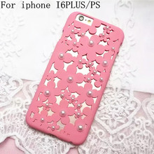 Phone cases Small daisy flowers Pearl hollow Heat dissipation Macaron Cover For iPhone 6 6s 6 plus case accessories