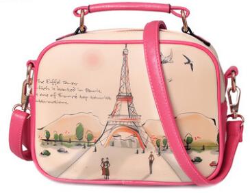 NEW 2015 BAG women's casual handbag small bag fashion one shoulder cross-body women's handbag doodle bag(China (Mainland))