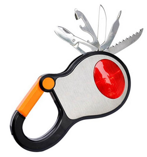 hand tools rechargeable flashlight life preserver outdoor camping hand crank 376 multi-function knife combination(China (Mainland))