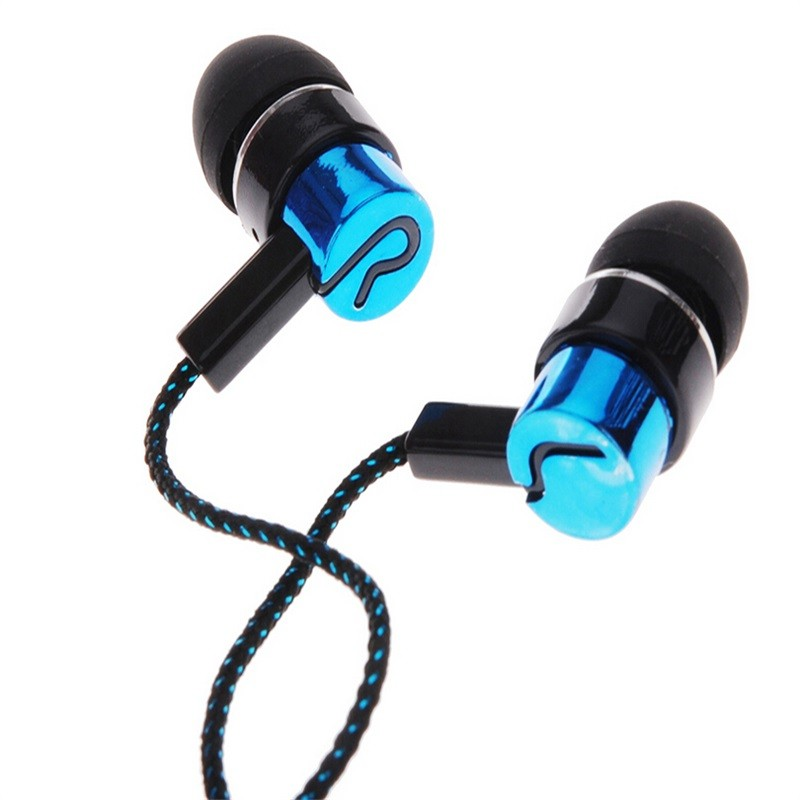 Fasion Stereo Mini Earphones Wired Sports Headphones Woven Fabric 3.5mm Mini Earphone Headsets Universal For Samsung iPhone MP3