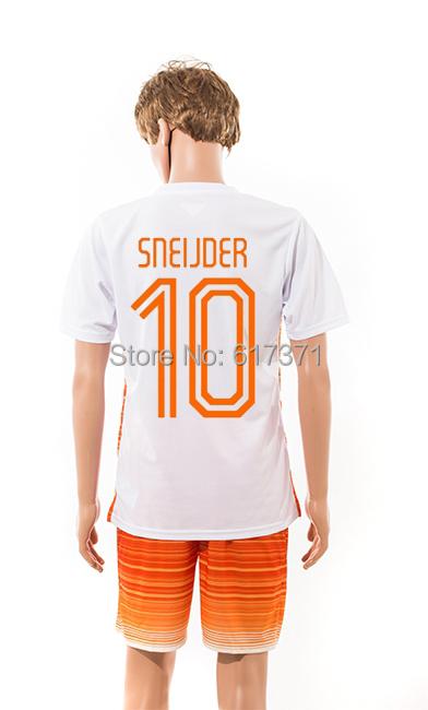 2015 2016 soccer jersey #10 SNEIJDER short sleeve thai quality football wear men's athletic sport training unform free shipping(China (Mainland))