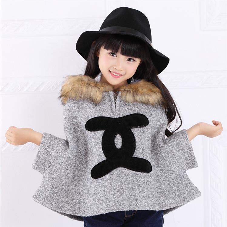 Spring autumn winter hot Retail sale girls fashion fur coat kids gray cloak With children Maomaolin women adult clothes 1101